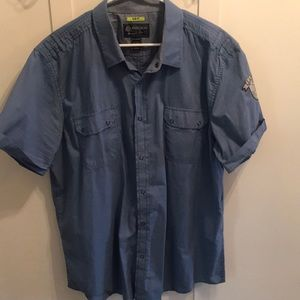 Men's work shirt style button up